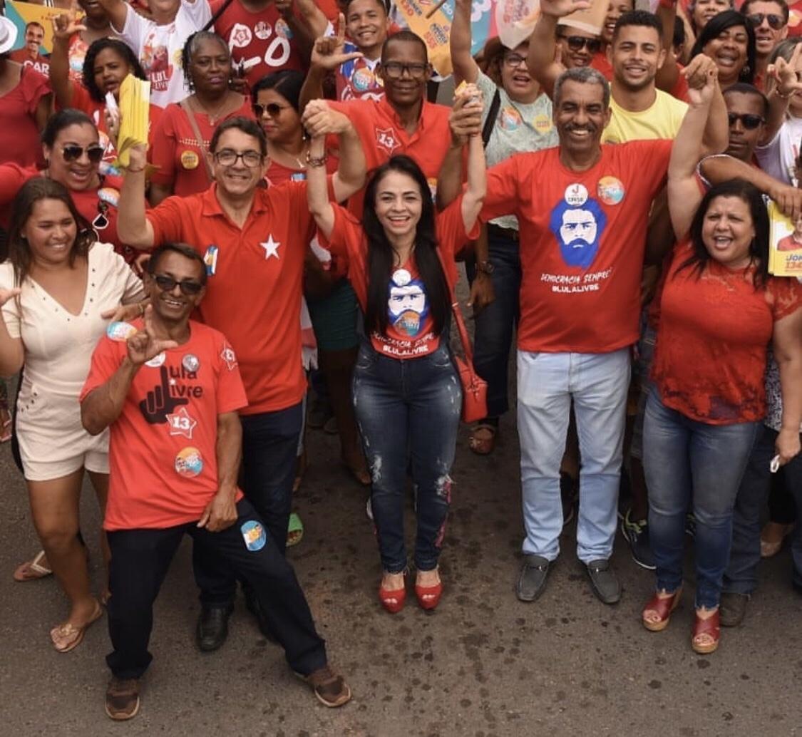 Apoiados por Moema, campanha de Jones Carvalho e Carlos Martins ganha corpo também em Lauro de Freitas