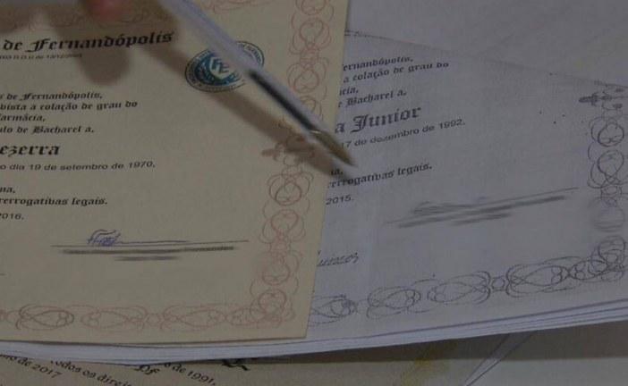 Quadrilha distribuiu mais de 350 mil diplomas escolares falsos