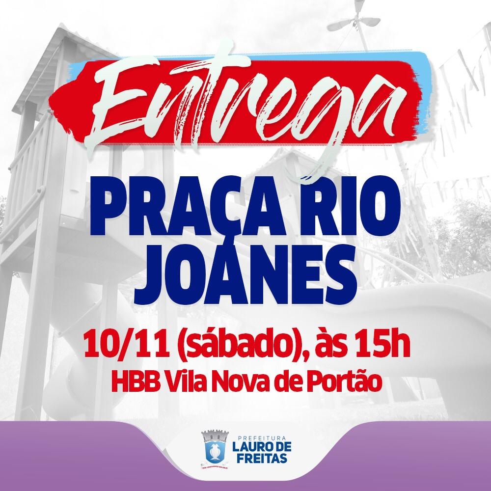 Prefeitura entrega reforma da Praça Rio Joanes neste sábado (10), em Vila Nova de Portão