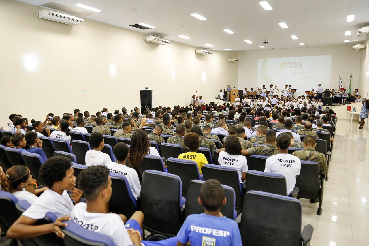 Emoção na festa de encerramento do Programa Forças no Esporte 2018