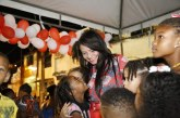 Moema é recebida com carinho no Natal das Crianças do Jardim Talismã