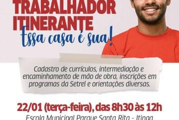"""Prefeitura lança projeto """"Casa do Trabalhador itinerante: essa casa é sua"""""""
