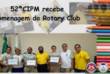 Rotary Club homenageia a 52ª CIPM de Lauro de Freitas