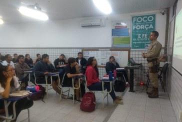 52ª CIPM de Lauro de Freitas realiza palestra para alunos do Colégio Impacto