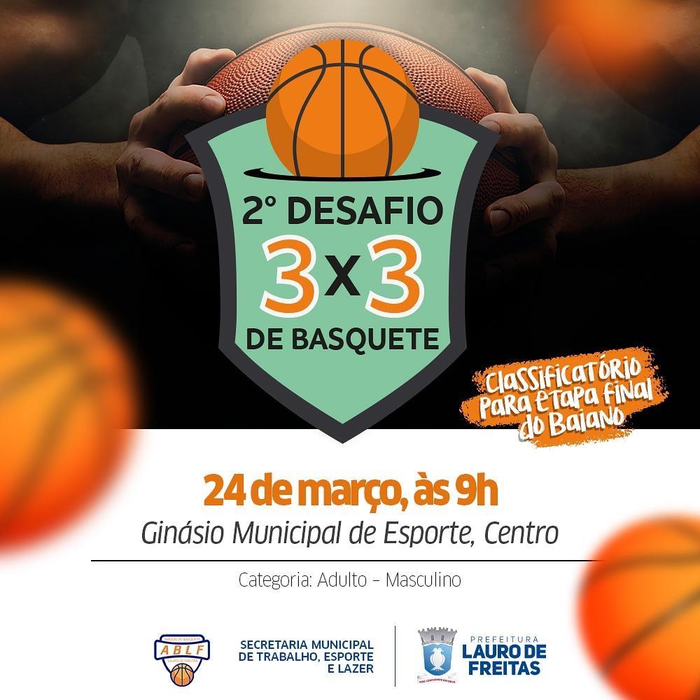 Prefeitura promove 2º Desafio de Basquete 3 x 3 nesse domingo