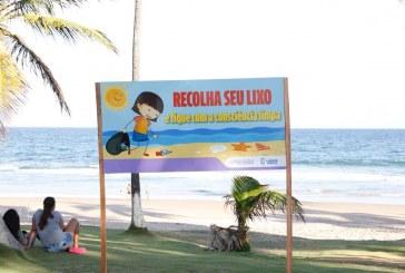 Campanha do meio ambiente alerta contra descarte de lixo nas praias