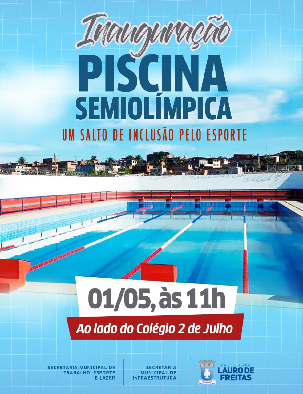 Resultado de imagem para Prefeitura inaugura piscina semiolímpica na Itinga nesta quarta-feira (01)