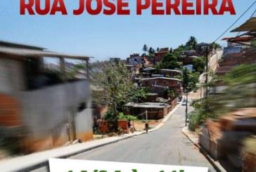 Lauro de Freitas entrega pavimentação de rua no Jardim Talismã, neste domingo (14)