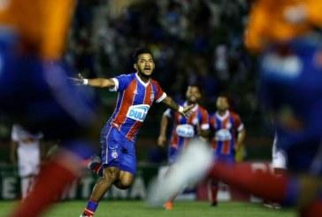 Com gol de Rogério, Bahia empata no fim com Bahia de Feira