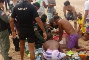 Turista é resgatado por Graer, mas não resiste e morre na praia de Arembepe