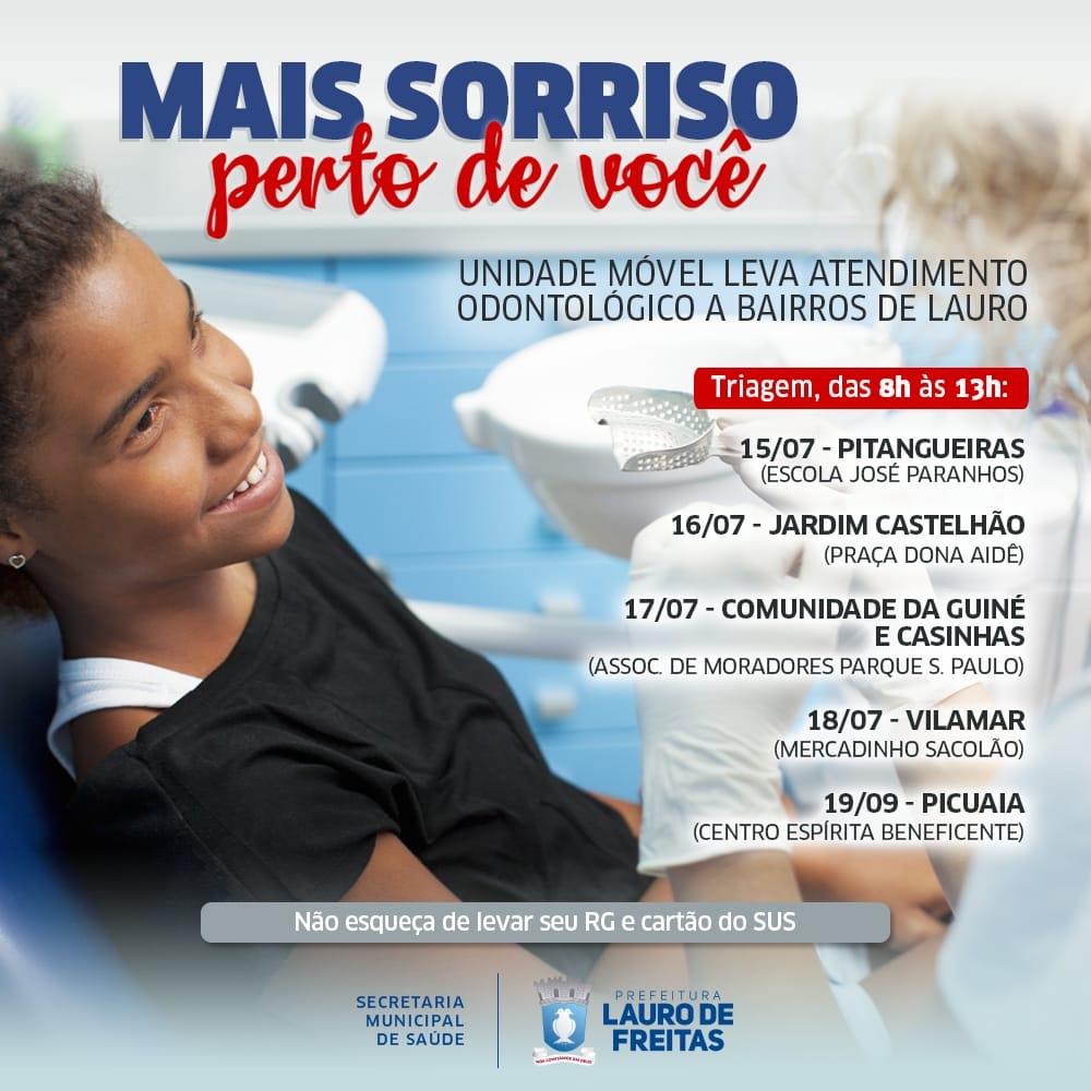 Mais Sorriso Perto de Você inicia triagem em novas localidades de Lauro de Freitas