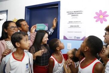 Alegria e gratidão marcam entrega do anexo da Escola Municipal Jardim Ipitanga
