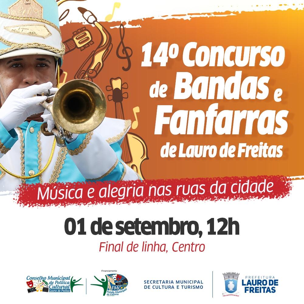 14º Concurso de Bandas e Fanfarras vai reunir grupos da RMS e Recôncavo neste domingo