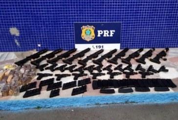 PRF apreende arsenal de guerra que seria entregue em comunidades