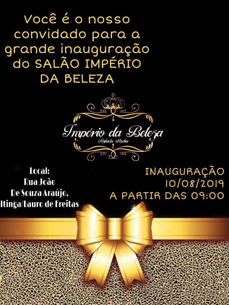 Grande inauguração do Salão Império da Beleza em ITINGA, neste sábado