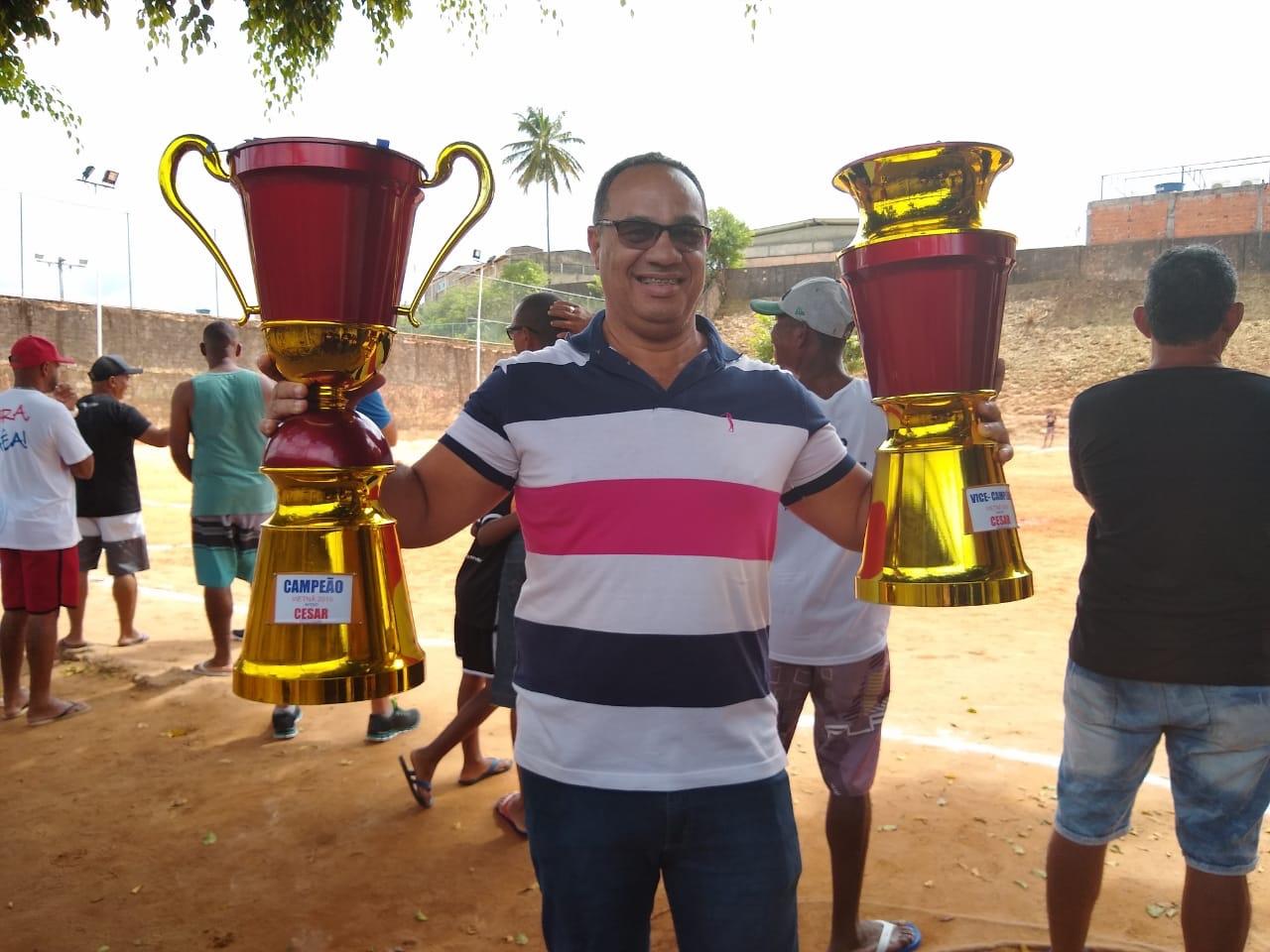 Vereador César prestigia abertura do 5º Campeonato de Futebol do Quinta da Glória e a final do Campeonato de Veterano do Vietnã
