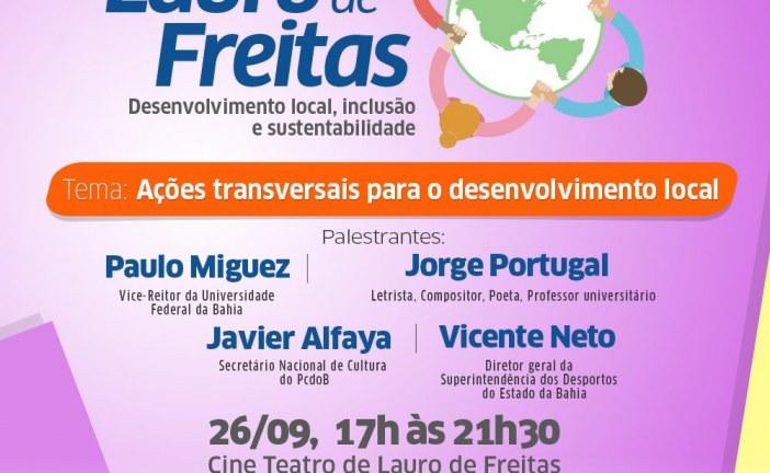 Mais um Seminário Lauro de Freitas – Desenvolvimento Local, Inclusão e Sustentabilidade, acontece no dia 26/09 no Cine Teatro