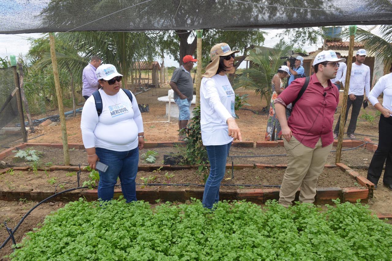 Líderes rurais e gestores de projetos apoiados pelo FIDA visitam experiências produtivas da agricultura familiar baiana