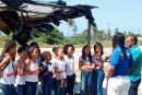 Alunos da rede municipal realizam mutirão de limpeza nas margens do Rio Sapato