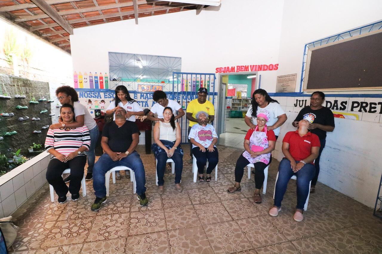 Quingoma recebe Caravana de Luz Cultural com práticas integrativas para os moradores
