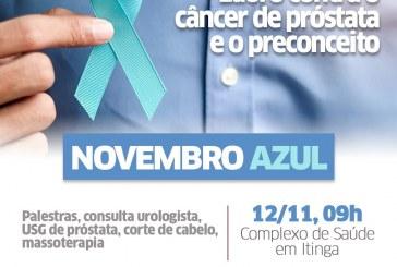 Prevenção ao câncer de próstata marca Novembro Azul no Complexo de Saúde da Itinga nesta terça-feira (12)