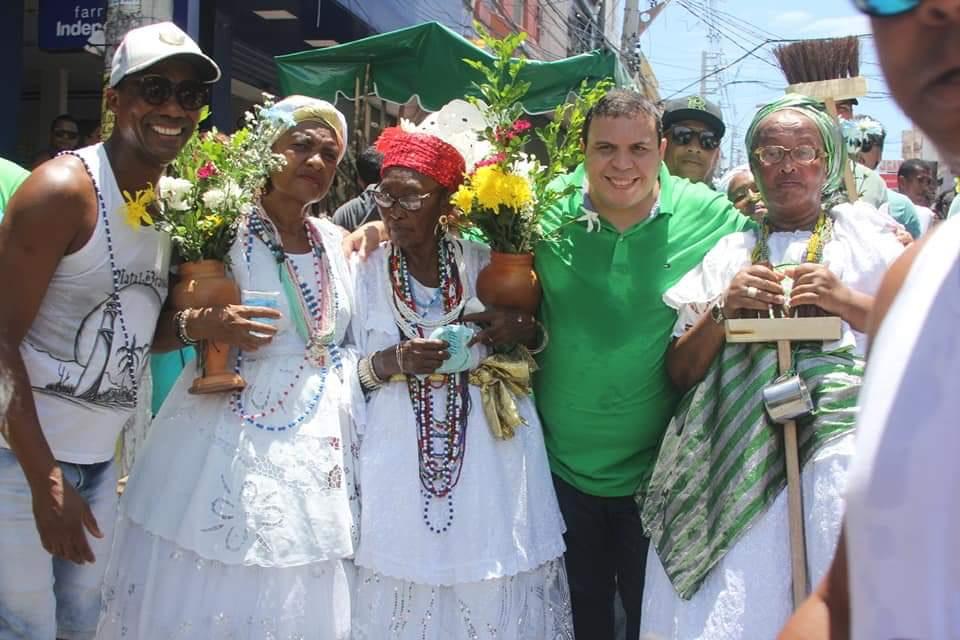 Vereador Isaac de Belchior participa do tradicional Cortejo Cultural em homenagem ao Padroeiro de Lauro de Freitas