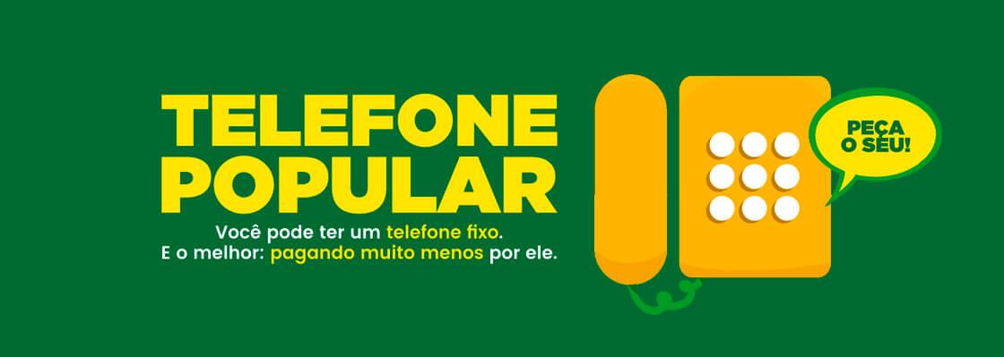 Telefone e Banda Larga Popular com tarifa reduzida