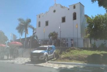 Comandante da 52ª CIPM de Lauro de Freitas participa da missa em homenagem ao padroeiro Santo Amaro de Ipitanga