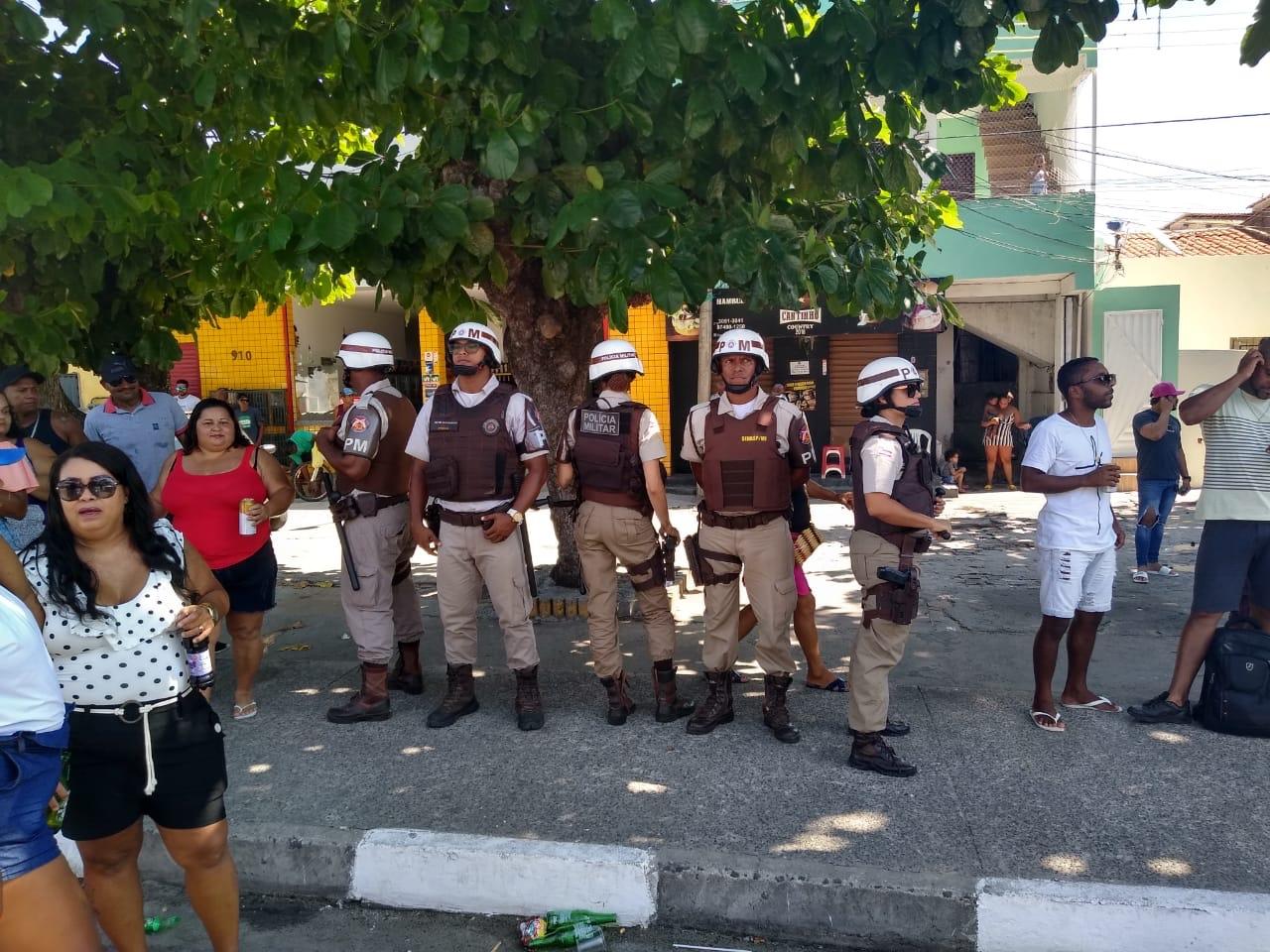 52ª CIPM garante a segurança nos festejos do padroeiro de Lauro de Freitas, Santo Amaro de Ipitanga