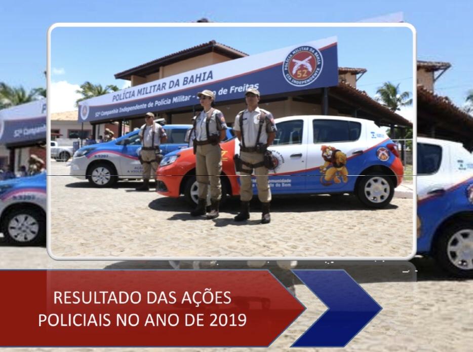 52ª CIPM de Lauro de Freitas divulga o resultado das ações policiais de 2019