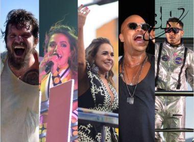 Salvador: sexta de Carnaval tem Saulo, Anitta, Preta, Daniela, Léo, Claudia, Tomate e Denny