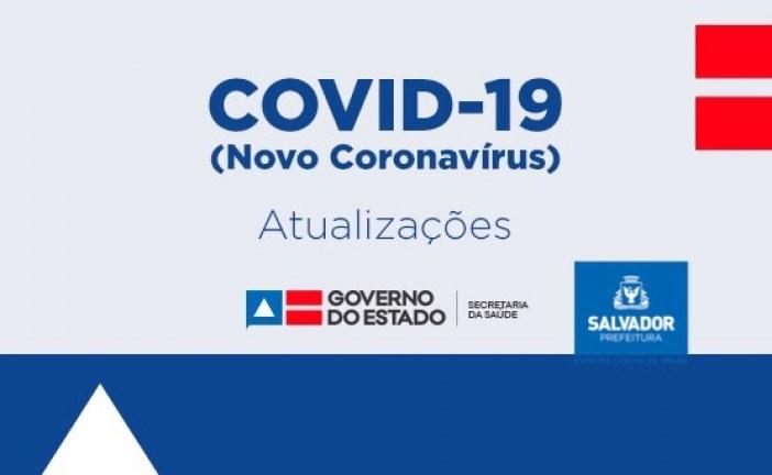 Nota conjunta da SESAB e SMS: boletim Coronavírus, atualizado às 17h