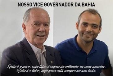 Presidente da Câmara, vereador Rosalvo parabeniza João Leão, vice-governador da Bahia, aniversariante do dia