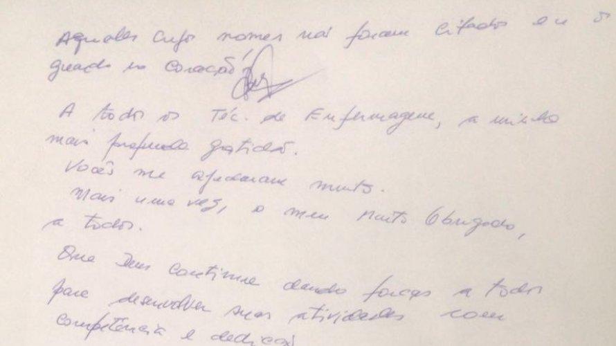 Primeiro paciente curado do coronavírus em Salvador escreve carta emocionada