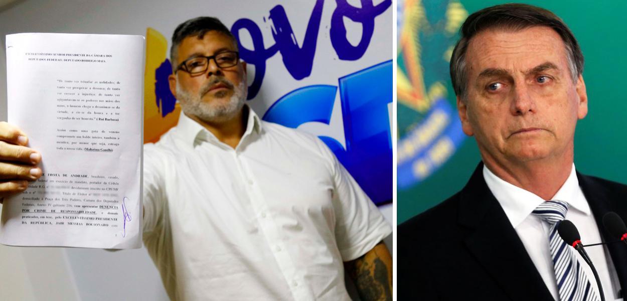 Frota aponta seis crimes e protocola mais um pedido de impeachment contra Jair Bolsonaro