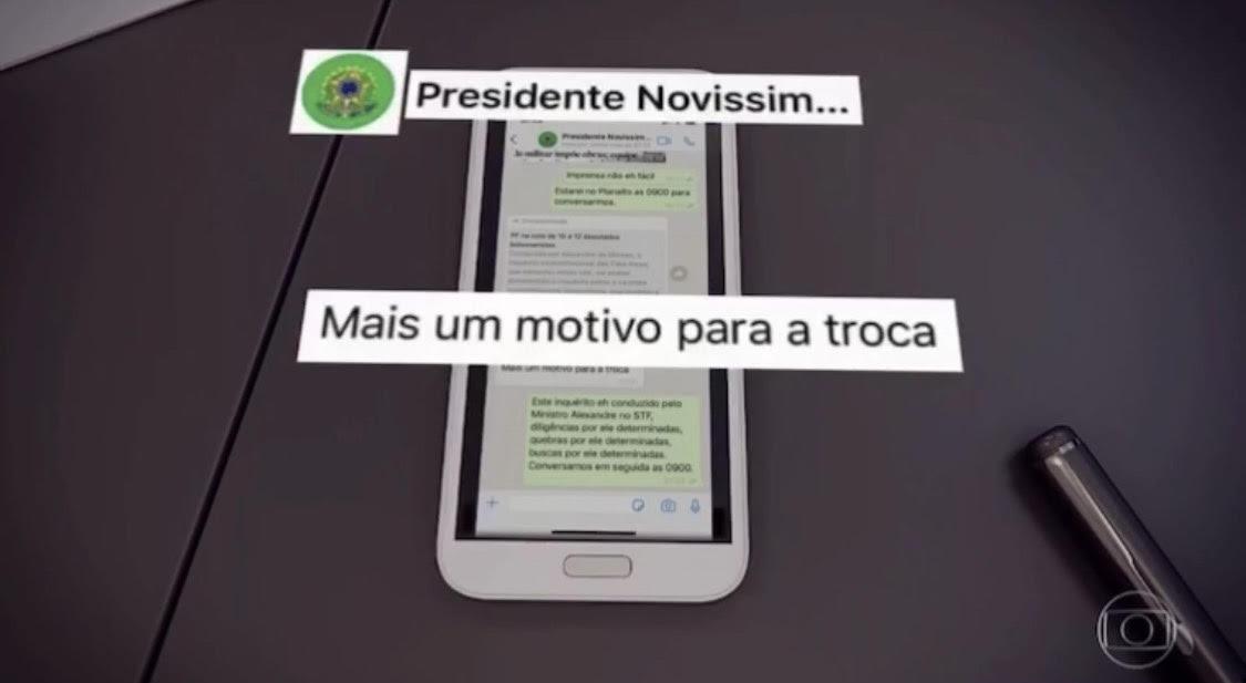 Vídeo: Moro exibe troca de mensagens em que Bolsonaro cobra mudança no comando da PF