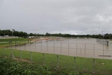 Reservatórios da macrodrenagem do Rio Ipitanga acumularam mais de 1 milhão de metros cúbicos de água das chuvas