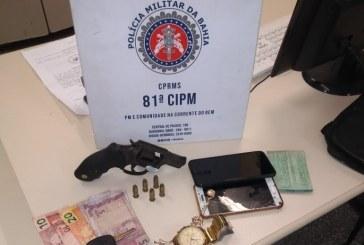 81ª CIPM prende duas pessoas em flagrante por roubo em Itinga