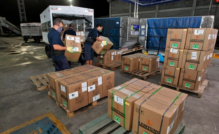 Governo do Estado recebe 159 respiradores para utilização na capital e interior