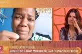Fátima Bernardes se emociona com mãe do menino Miguel; vídeo