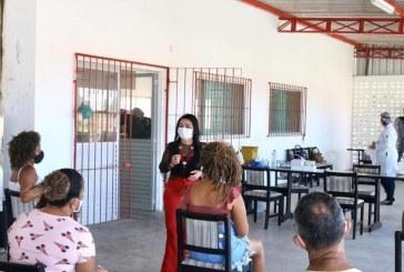 Prefeita Moema acompanha neste domingo, ações de combate à Covid-19 realizadas em Itinga
