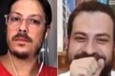 Esposa de Fábio Porchat aparece nua em live com Boulos; vídeo