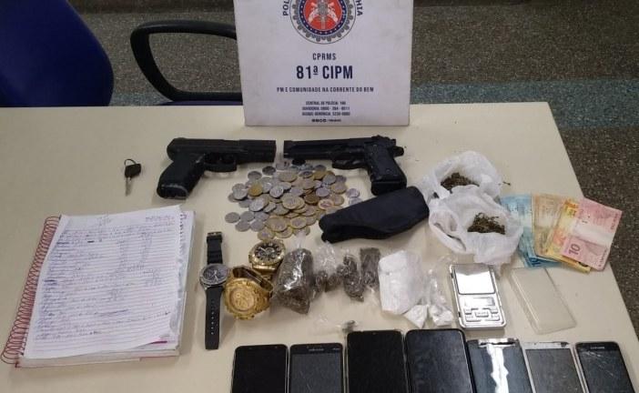 Policiais da 81ª CIPM de Itinga prendem homens por tráfico de drogas