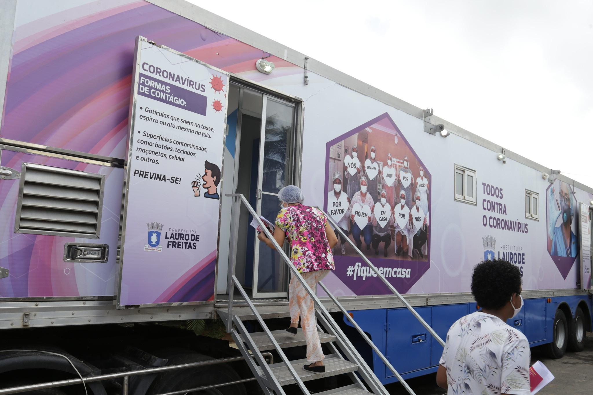 Testagem rápida chega a Jardim Castelhão e Lauro de Freitas avança no enfrentamento ao coronavírus