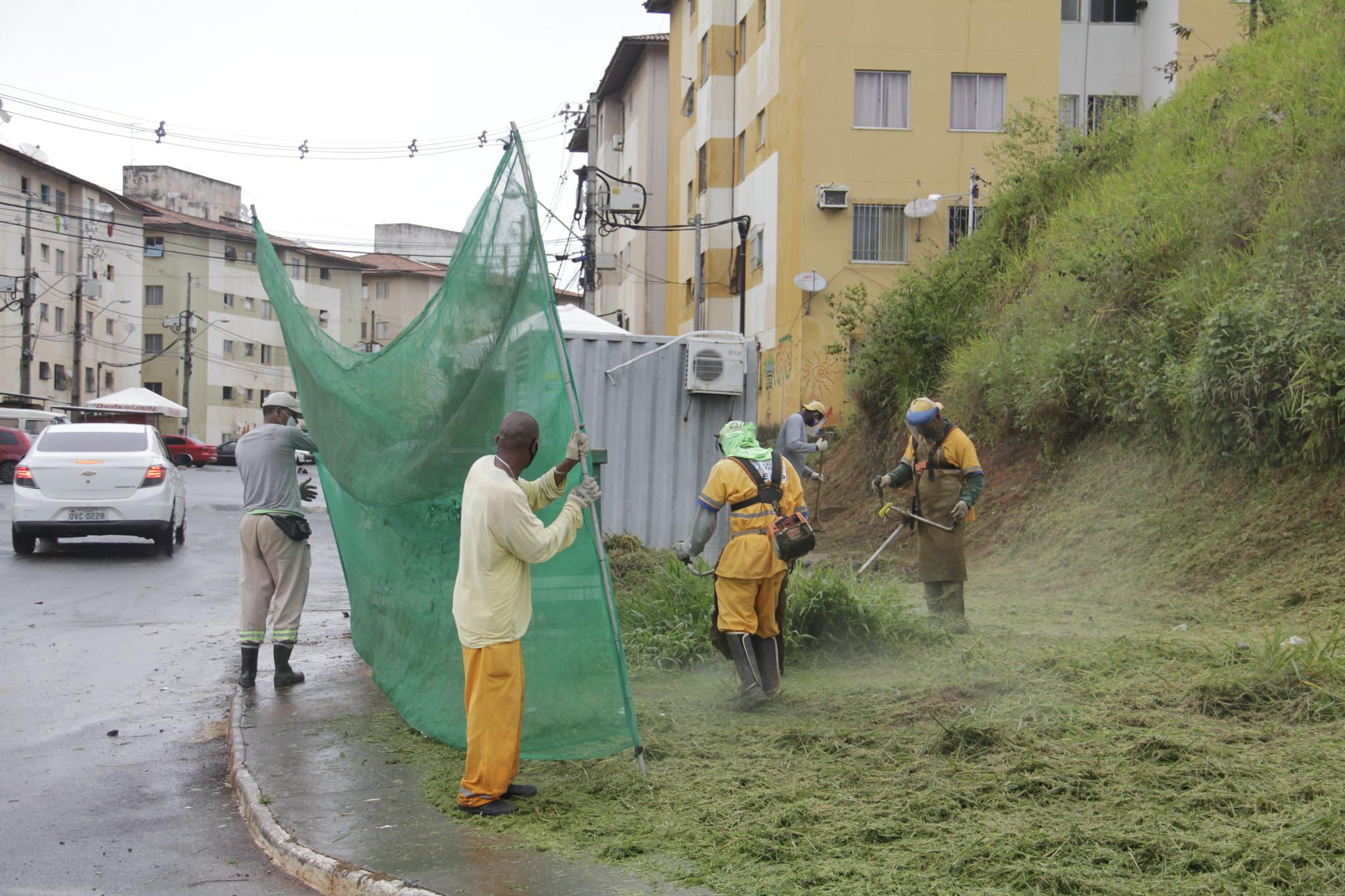Equipes da SESP mantêm programação de limpeza, mesmo com redução do quadro de agentes pela pandemia