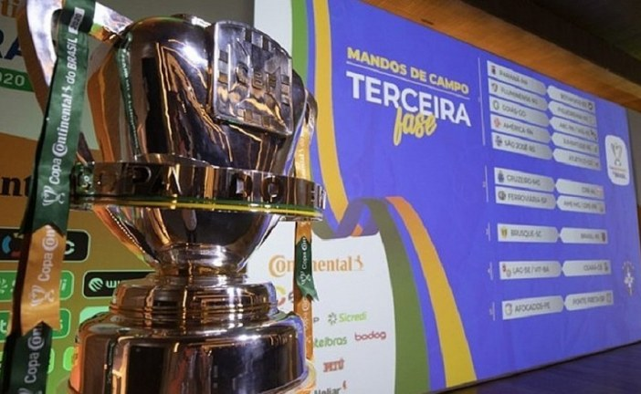 CBF divulga nova tabela da Copa do Brasil; Vitória enfrenta o Ceará dia 26 de agosto
