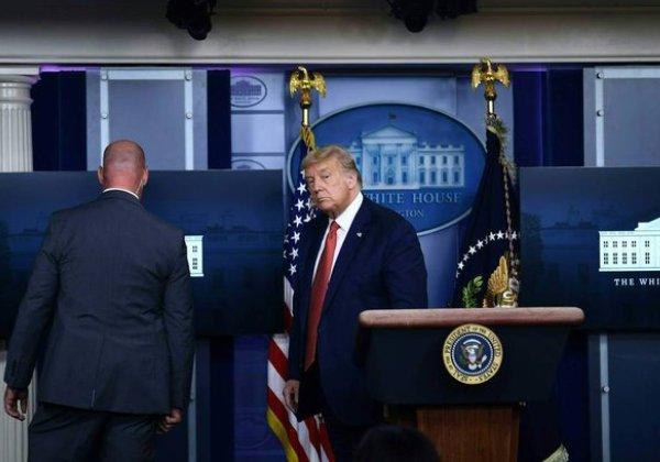Vídeo: Disparos ao lado da Casa Branca interrompem coletiva de imprensa de Donald Trump