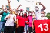 Em carreata por toda a cidade, Moema e Vidigal agradecem ao povo de Lauro de Freitas