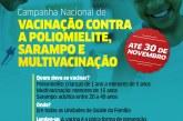 Campanha de vacinação contra poliomielite e sarampo é prorrogada até dia 30 em Lauro de Freitas