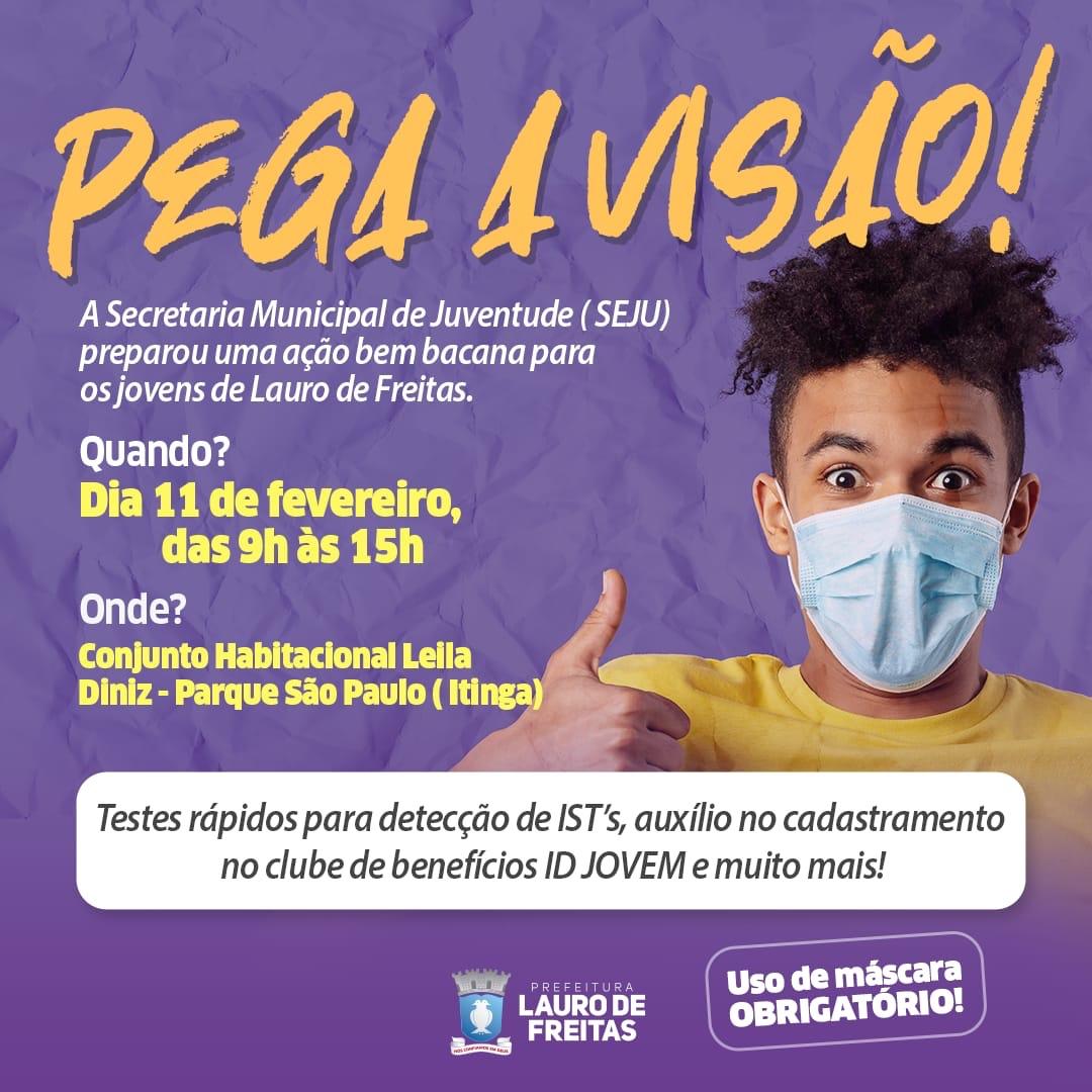 """Lauro de Freitas lança projeto """"Pega a Visão"""" nesta quinta-feira (11)"""